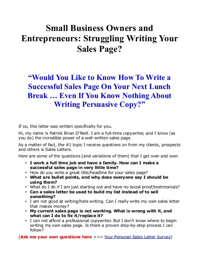 Small Business Owners And Entrepreneurs Struggling Writing Your Sale