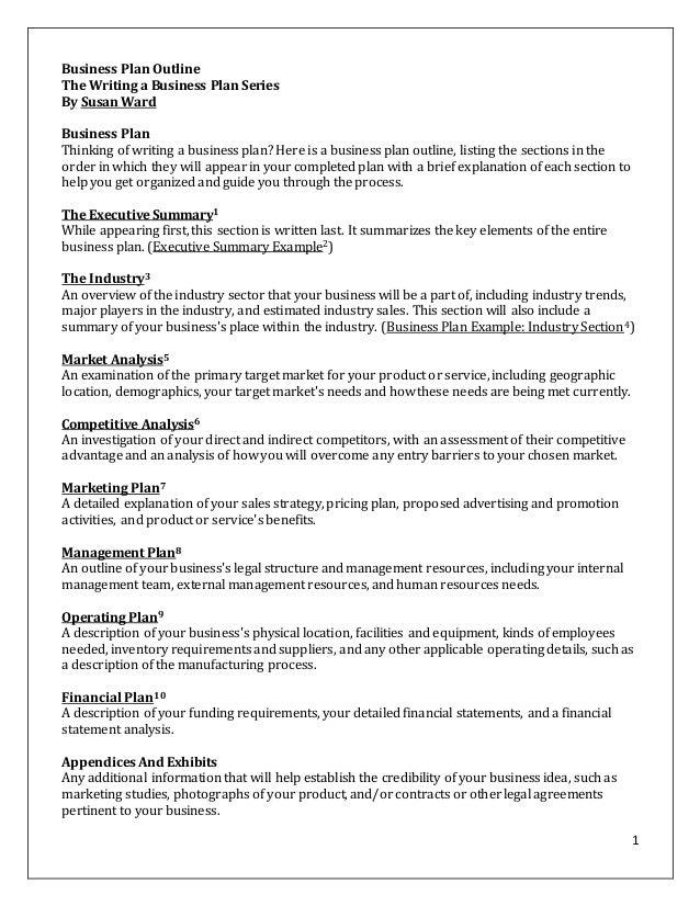 Help writing a business plan