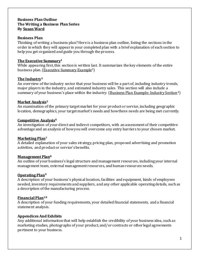 free sole proprietorship business plan template