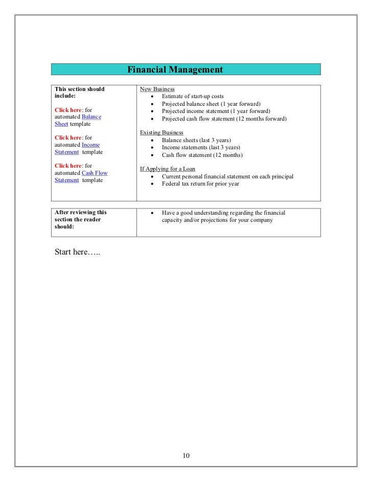 Small business plan template 9 10 accmission Choice Image