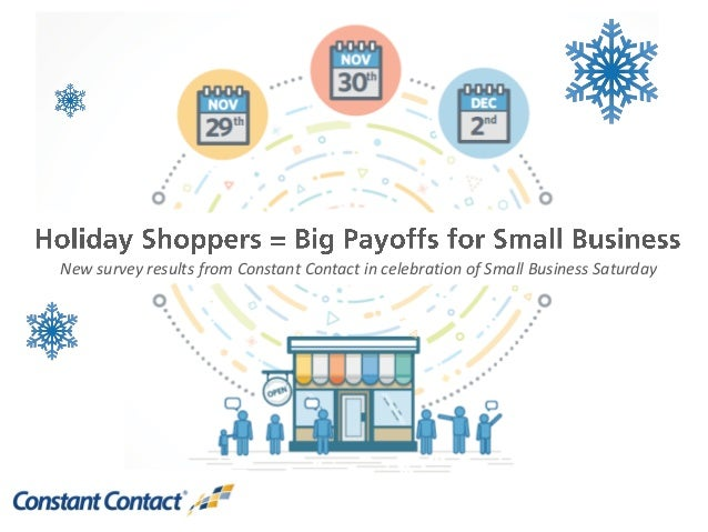 New survey results from Constant Contact in celebration of Small Business Saturday