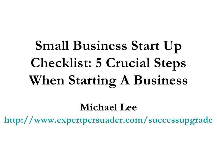 starting a business plan checklist