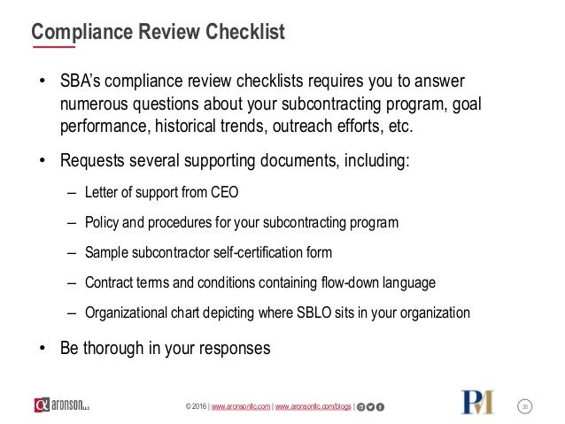 Comply With Small Business Subcontracting Plan