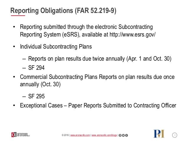 Past Performance Everything Small Business Subcontracting Plan