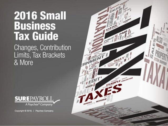 2016 Small Business Tax Guide