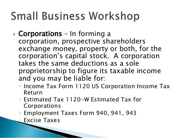 Small Business Workshop 2012