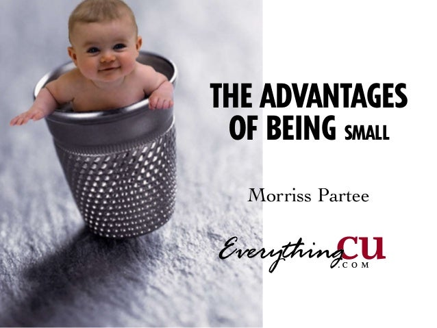 ©2005 EverythingCU.com and DeniseTHE ADVANTAGESOF BEING SMALLMorriss Partee