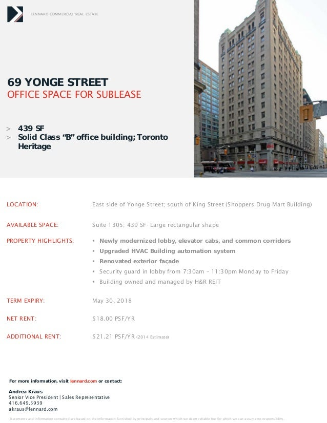 Small Downtown Toronto Office Space For Lease August 2014