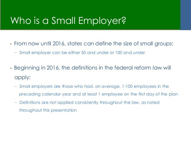 Calendar Year Legal Definition : Affordable care act what does it mean for small employers