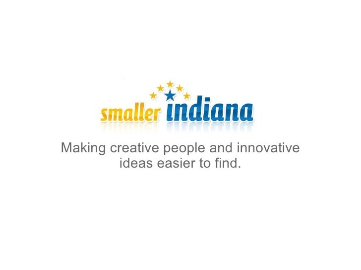 Making creative people and innovative ideas easier to find.