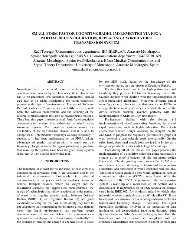 partial reconfiguration fpga thesis Secure partial reconfiguration of fpgas by amir h sheikh zeineddini a thesis submitted to the graduate faculty of george mason university in partial fulflllment of the.