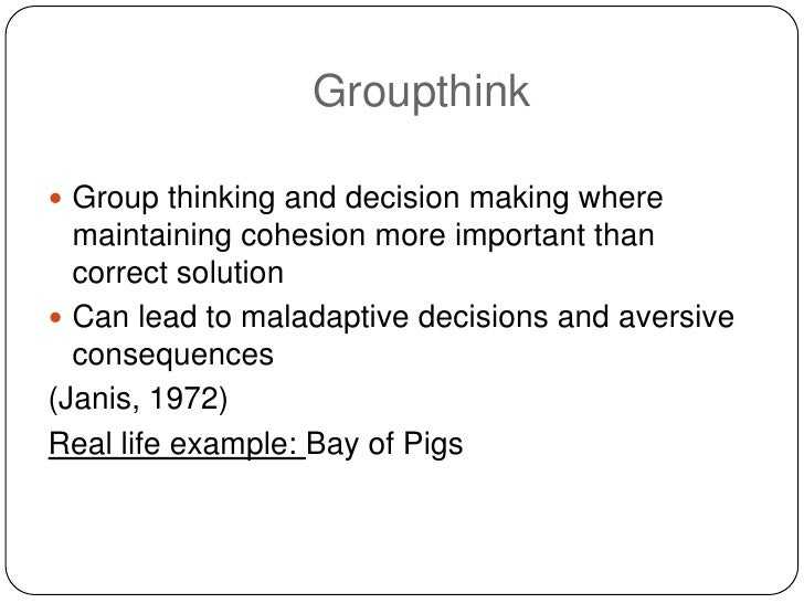 Group think bay of pigs