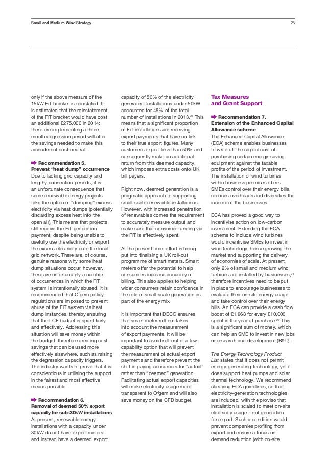 Small & medium wind strategy report