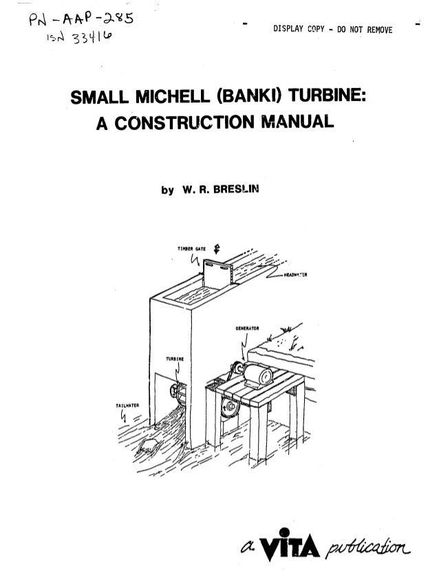 Small michell turbine