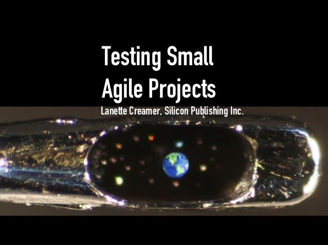 Testing Small Agile Projects Lanette Creamer, Silicon Publishing Inc.