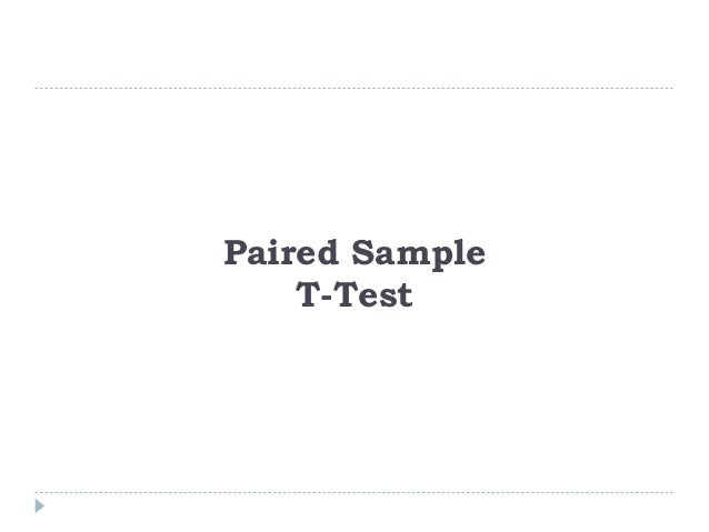Paired sample t-Test: In paired sample hypothesis testing, a sample from the population is chosen and two measurements for...