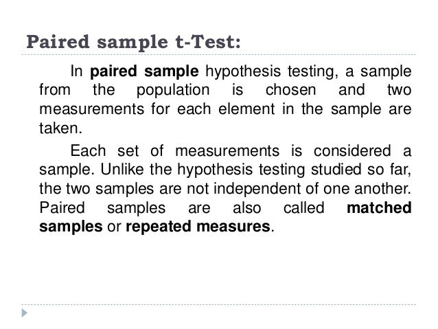When to Choose a Paired T Test ? Choose the paired t-test if you have two measurements on the same item, person or thing. ...