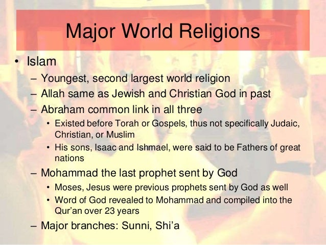 Small Scale And World Religions - Second religion in the world