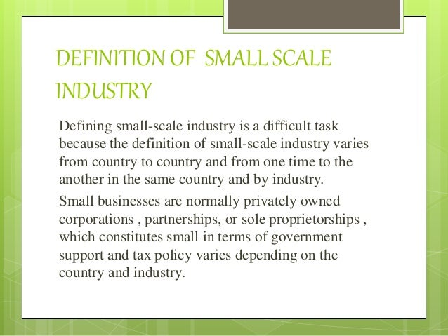 Small scale industries  ppt