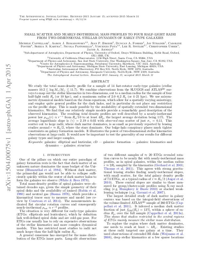 arXiv:1504.00075v1 [astro—ph. GA] 1Apr 2015  THE ASTROPHYSICAL JOURNAL LETTERS.  RECEIVED 2015 JANUARY 15; ACCEPTED 2015 M...