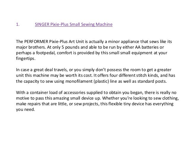 Small Sewing Machine Reviews Best Pixie Plus Sewing Machine Reviews
