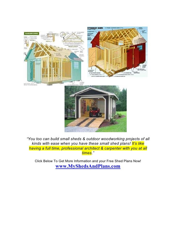 Small shed plans Slide 2