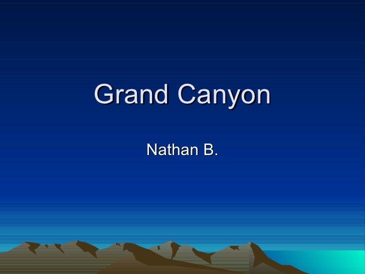 Grand Canyon Nathan B.