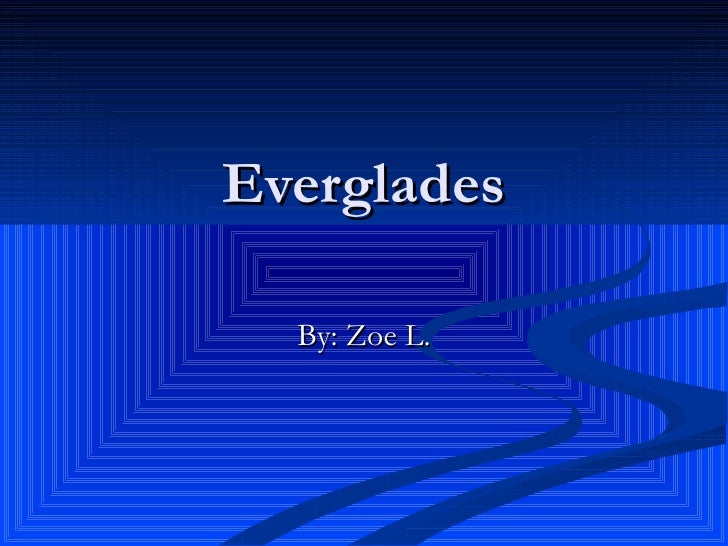 Everglades By: Zoe L.
