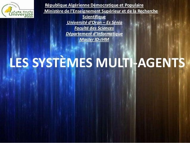 République Algérienne Démocratique et Populaire     Ministère de l'Enseignement Supérieur et de la Recherche              ...