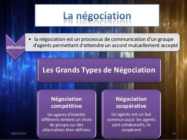 Processus de décision             •C'est le cœur de fonctionnement et lintelligence de la             négociation.        ...
