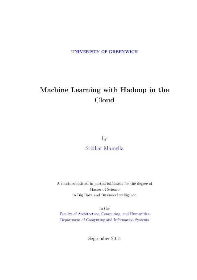 master thesis machine learning