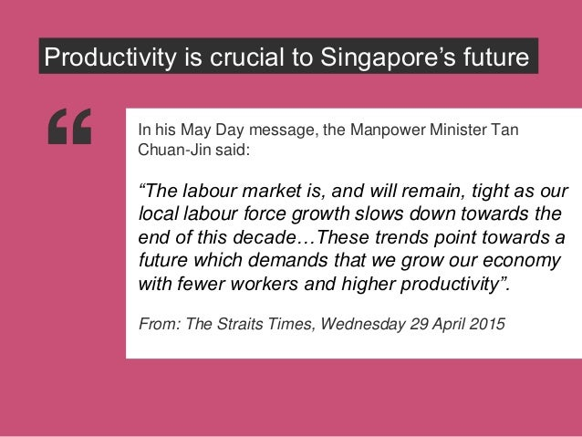 In his May Day message, PM Lee Hsien-loong said that Singapore must push ahead with productivity and innovation or risk co...