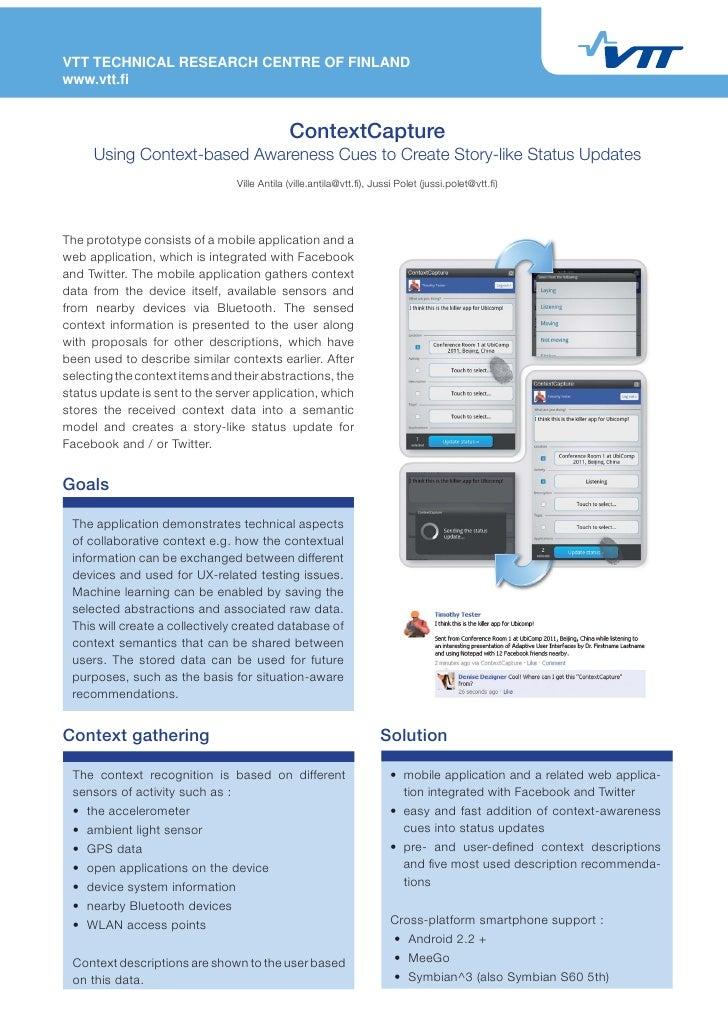 VTT TECHNICAL RESEARCH CENTRE OF FINLANDwww.vtt.fi                                             ContextCapture     Using Con...