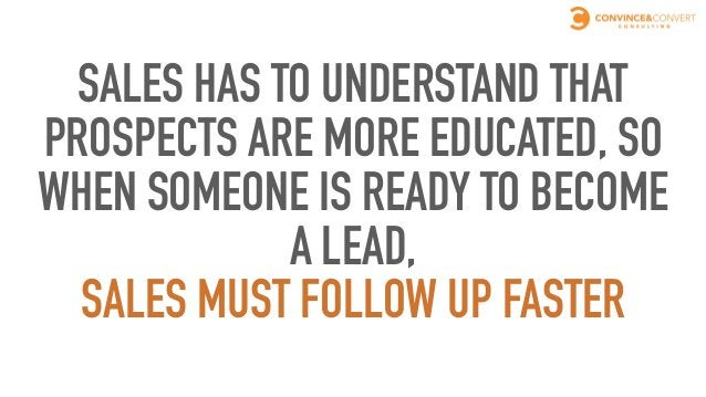 SALES' JOB SHOULD BE EASIER WITH MORE EDUCATED PROSPECTS Sales' role now Sales' role before