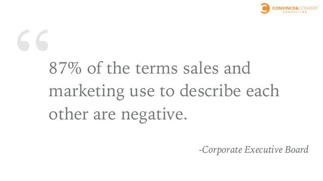 WHAT IF SALES AND MARKETING WERE ON THE SAME PAGE?