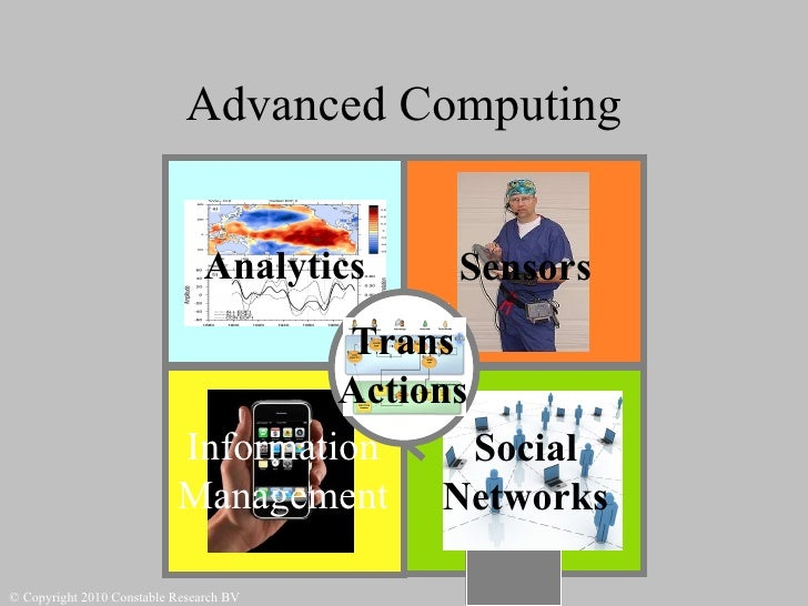 Advanced Computing Actie Sensors Analytics Social Networks Trans Actions Information Management © Copyright 2010 Constable...