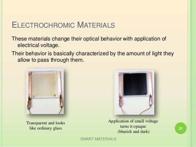 smart materials examples and uses