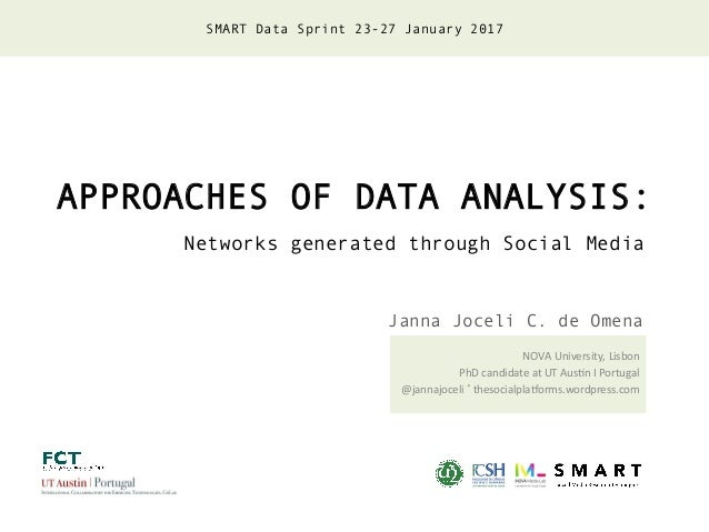 APPROACHES OF DATA ANALYSIS: Networks generated through Social Media NOVA	University,	Lisbon	 PhD	candidate	at	UT	Aus;n	I	...