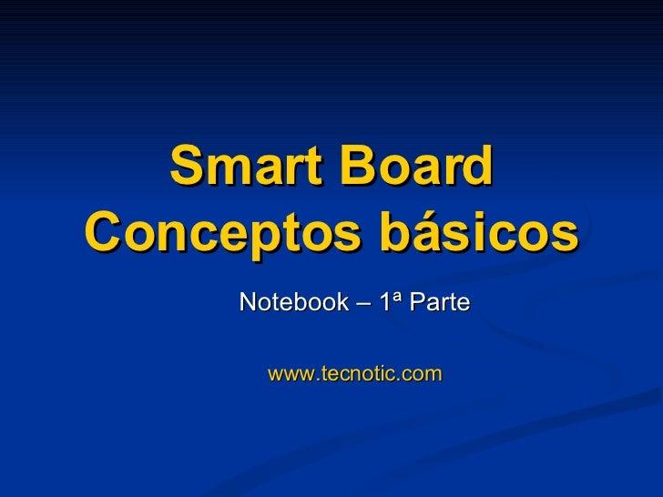 Smart Board Conceptos básicos Notebook – 1ª Parte www.tecnotic.com
