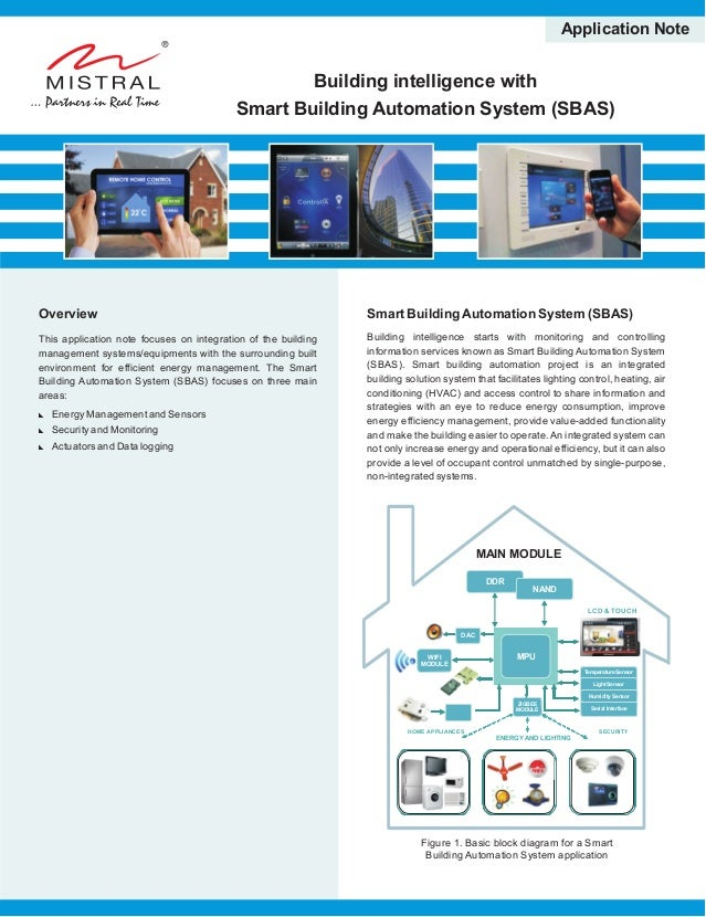 Building intelligence with Smart Building Automation System (SBAS) Application Note Overview This application note focuses...