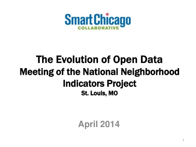The Evolution of Open Data Meeting of the National Neighborhood Indicators Project St. Louis, MO April 2014 1