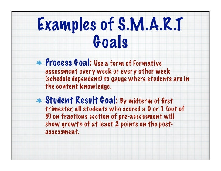 examples of smart goals for students | Example