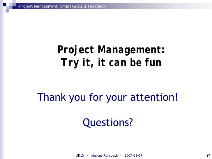 smart goals and feedback  project management