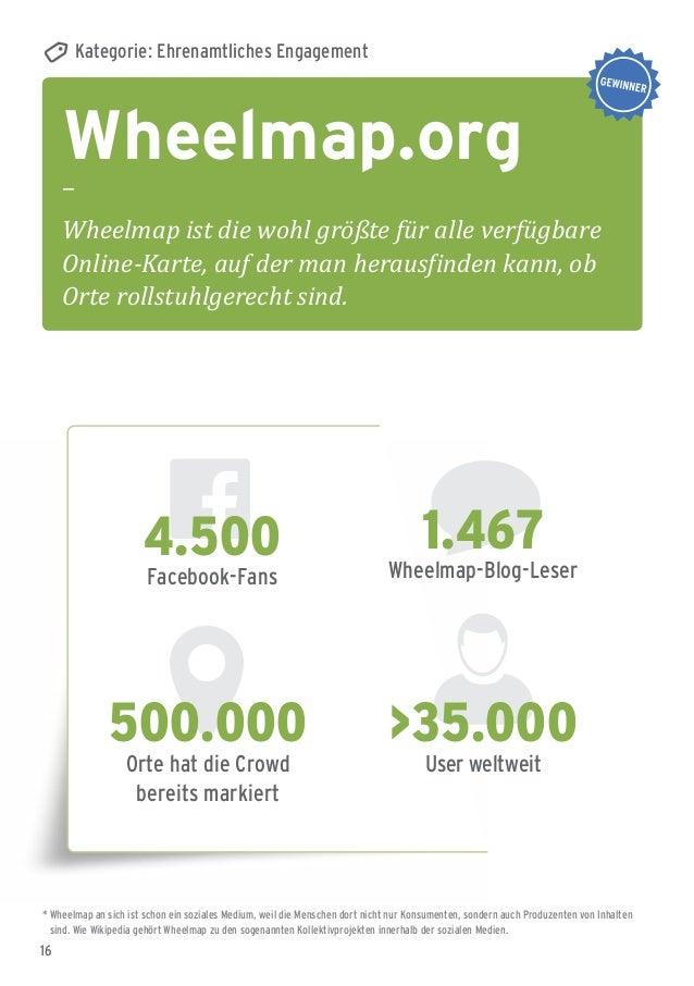 16 Wheelmap.org – Wheelmap ist die wohl größte für alle verfügbare Online-Karte, auf der man herausfinden kann, ob Orte ro...