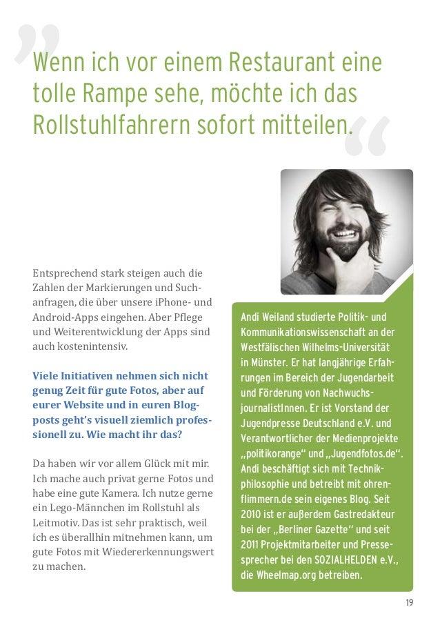 19 Andi Weiland studierte Politik- und Kommunikationswissenschaft an der Westfälischen Wilhelms-Universität in Münster. Er...