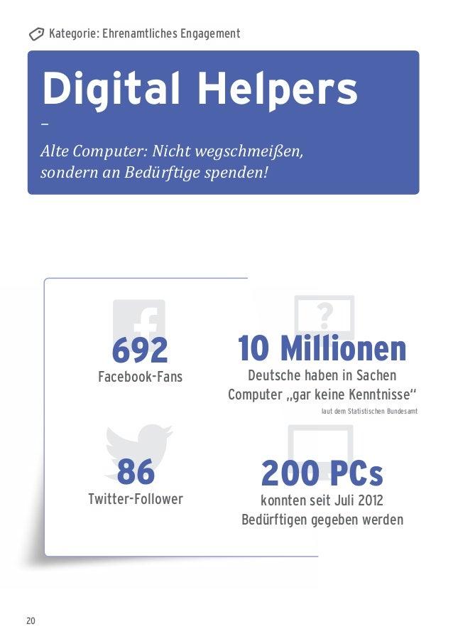 20 Digital Helpers – Alte Computer: Nicht wegschmeißen, sondern an Bedürftige spenden! Kategorie: Ehrenamtliches Engagemen...
