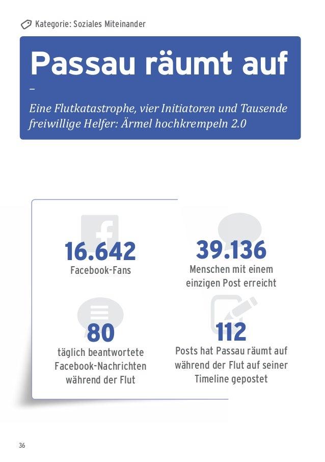36 Passau räumt auf – Eine Flutkatastrophe, vier Initiatoren und Tausende freiwillige Helfer: Ärmel hochkrempeln 2.0 Kateg...