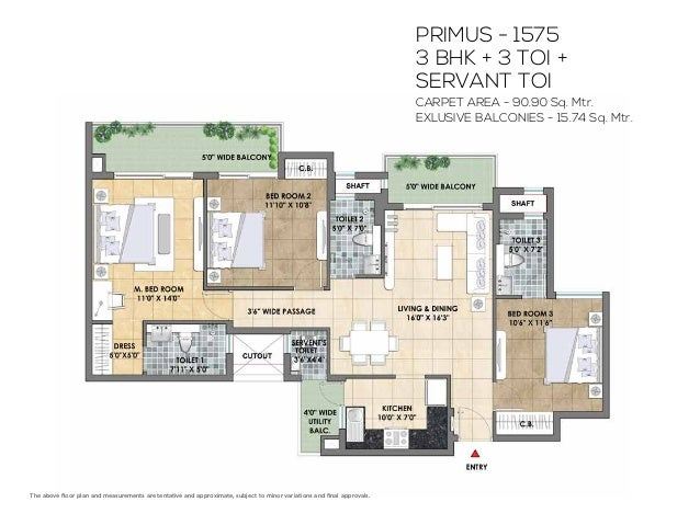 TICKET SIZE COMPOSITION 2 BHK STARTING AT `50* LAKHS 3 BHK STARTING AT `57.5* LAKHS *Amounts mentioned are indicative and ...