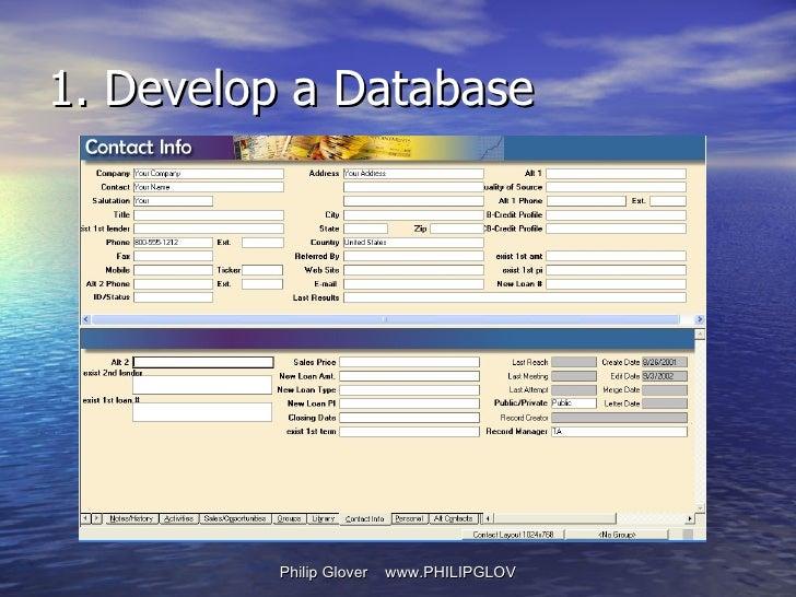 1. Develop a Database