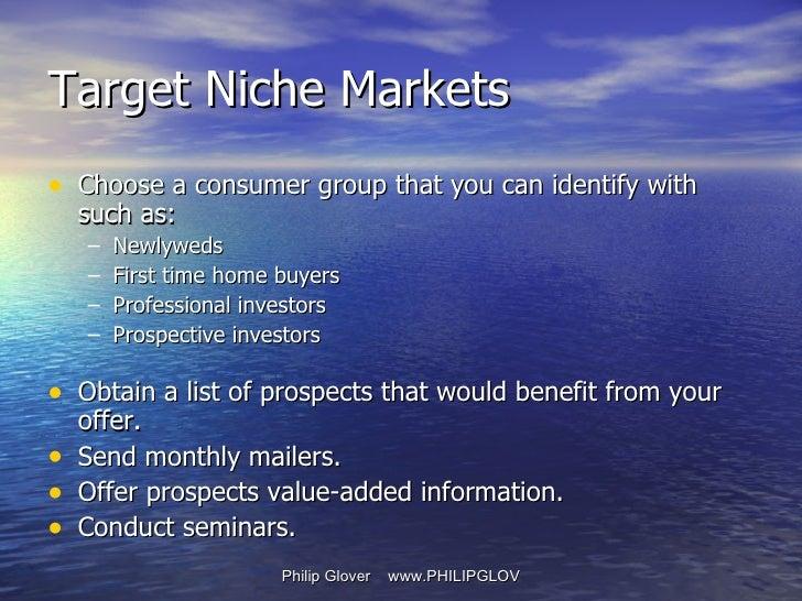 <ul><li>Choose a consumer group that you can identify with such as: </li></ul><ul><ul><li>Newlyweds </li></ul></ul><ul><ul...